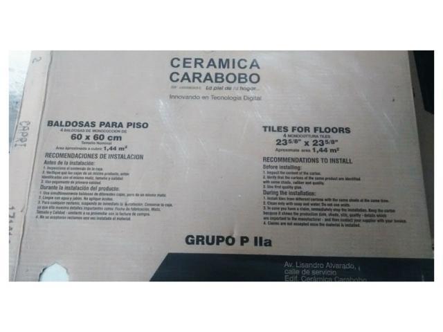 Porcelanato Gris Capri 27 cajas 860$ - 3/4