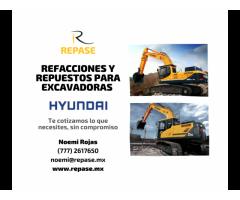 REFACCIONES Y REPUESTOS PARA EXCAVADORAS HYUNDAI