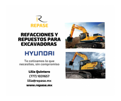 REFACCIONES PARA EXCAVADORAS HYUNDAI