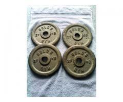 Discos mancuernas 2,5 Kg Golds Gym