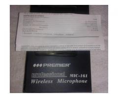 Micrófono inalámbrico Profesional PREMIER MIC-161