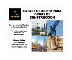 CABLES DE ACERO PARA GRUAS DE CONSTRUCCION