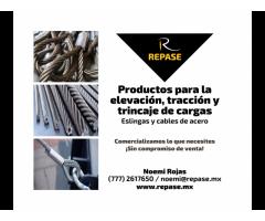 ESLINGAS Y CABLES DE ACERO PARA EQUIPOS DE ELEVACION