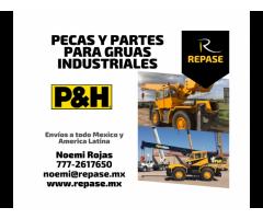 PECAS Y PARTES PARA GRUAS INDUSTRIALES P&H