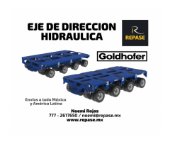 EJES DE DIRECCION HIDRAULICOS TPH SL GOLDHOFER