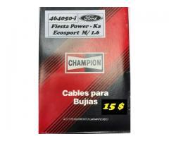 Cables para Bujías Ford Fiesta Power - Ka - Ecosport M/ 1.6   CHAMPION 15 $