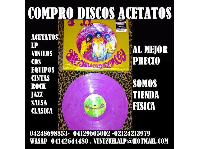 Compro discos lp, acetatos, al mejor precio, viniles, todo tipo, cds, equipos, - 1/6