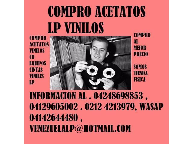 Compro discos lp, acetatos, al mejor precio, viniles, todo tipo, cds, equipos, - 2/6