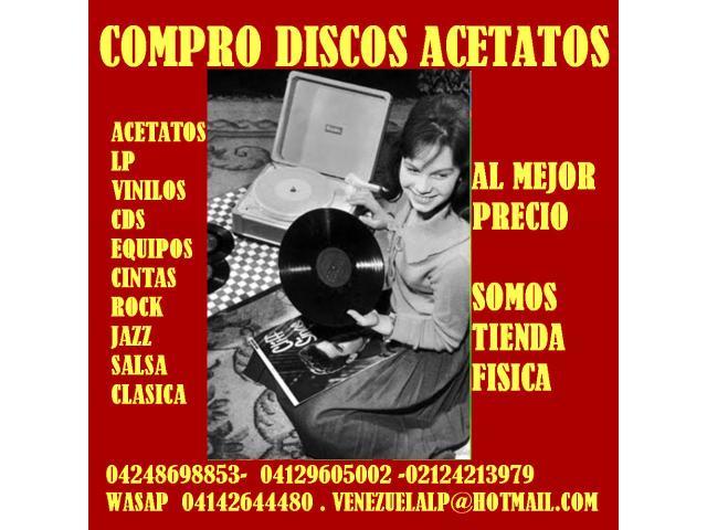 Compro discos lp, acetatos, al mejor precio, viniles, todo tipo, cds, equipos, - 3/6