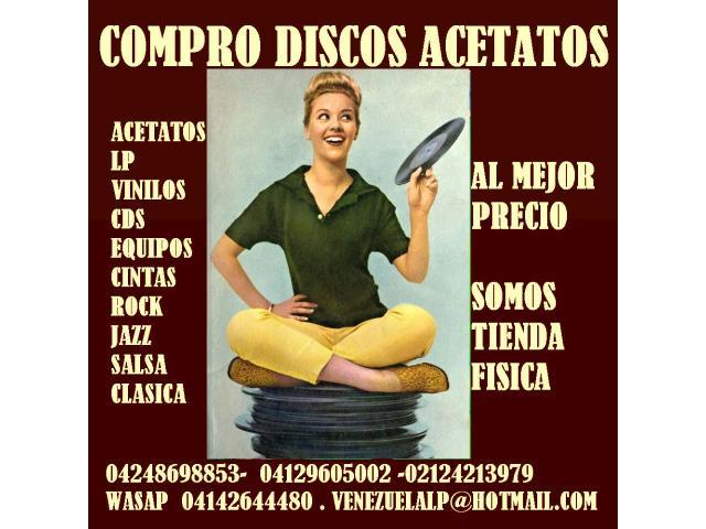Compro discos lp, acetatos, al mejor precio, viniles, todo tipo, cds, equipos, - 5/6