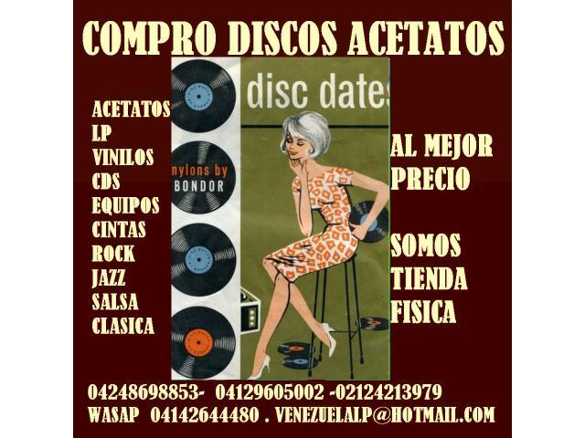 Compro discos lp, acetatos, al mejor precio, viniles, todo tipo, cds, equipos, - 6/6