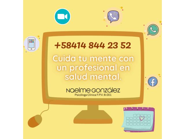 Psicóloga clínica F.P.V.: 8.001 Niños, Adolescentes, Adultos, Parejas, Familias, Empresas e Insts - 1/3