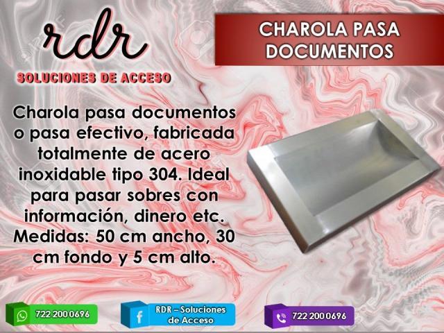 CHAROLA PASADOCUMENTOS- RDR SOLUCIONES DE ACCESO - 1/1