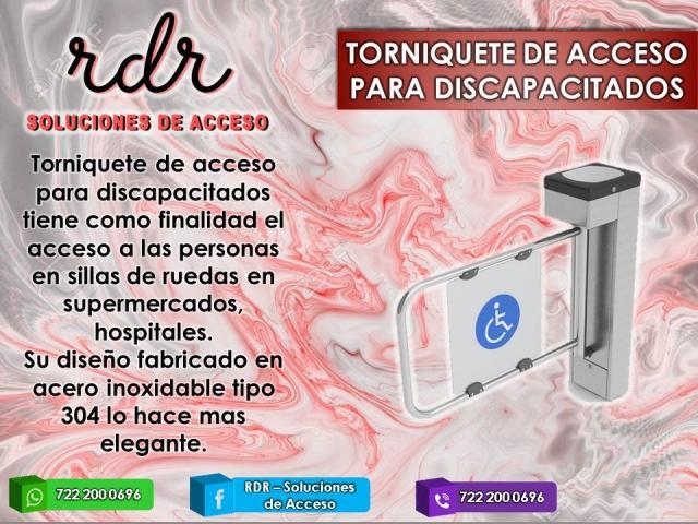 TORNIQUETE DE ACCESO PARA DISCAPACITADOS - RDR SOLUCIONES DE ACCESO - 1/1