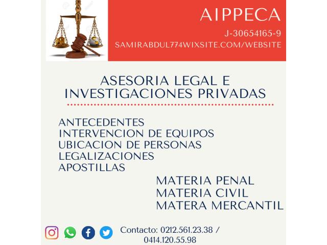 asesoria legal e investigaciones privadas - 1/1
