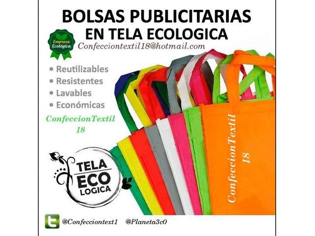 b62740bdc Bolsas Ecologicas Publicitarias en tela reciclable con estampado - 1/4 ...