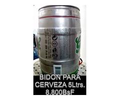 *BIDON PARA CEVREZA DE 5Ltrs. EN 8.800BsF