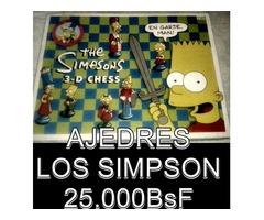 """*JUEGO DE AJEDRES DE """"LOS SIMPSONS"""" ORIGINAL, AÑO 1997 EN 25.000BsF"""