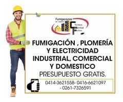 Fumigaciones Plomeria y electricidad Garantizada. 02617326591