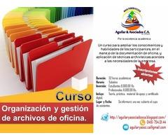 CURSO Organización y gestión de archivos de oficina
