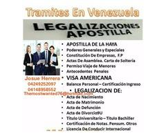 LEGALIZACIONES Y APOSTILLA