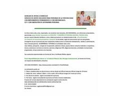 SE OFRECE AUXILIAR  A DOMICILIO PARA PERSONAS CON LIMITACION DE AUTONOMIA PERSONAL