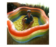 piscina de hule .