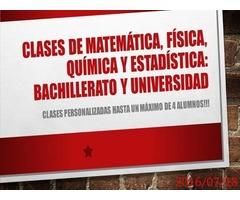 Clases de Matemática, física, química y estadística en Agosto 2016!!