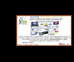 SERVICIO TECNICO PARA COMPUTADORAS, TELEFONOS, TABLES Y LAPTOPS