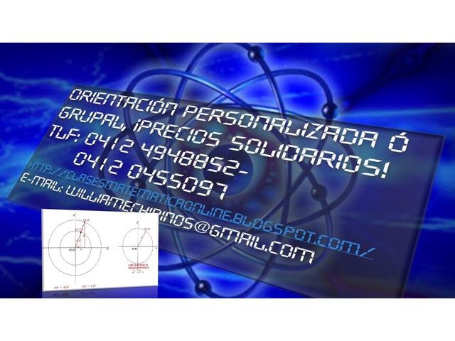 CLASES PARTICULARES A DOMICILIO DE: MATEMATICA; FISICA Y QUIMICA - 6/6