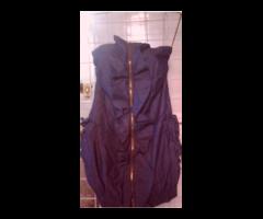 vestido corto azul oscuro