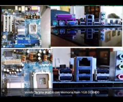 VENDO TARJETA MADRE ASROCK  DDR400 + una memoria Ram 1Gb