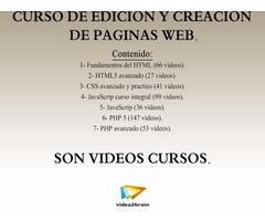 Curso de EDICIÓN Y CREACIÓN de páginas web