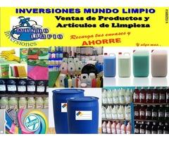 ventas de articulos y productos de limpieza