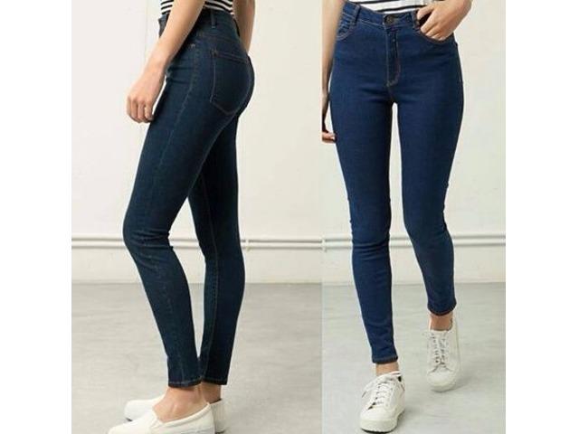 llega última venta nueva precios más bajos Pantalón Jeans Corte Alto De Dama Talla S M Y L