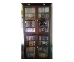REMATO 252 PELÍCULAS DVD ORIGINALES-USADAS +VITRINA