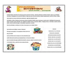 VACACIONES DIVERTIDAS PARA NIÑOS/AS