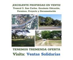 EXCELENTE TERRENO COMERCIAL SAN CARLOS