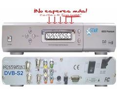Receptor de Satélite * STAR 6000 PREMIUM * Para Canales libres emisión Free To Air FTA