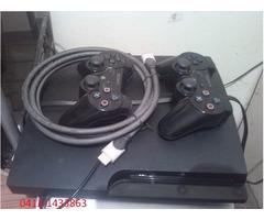 Play Station 3 Slim 160 Gb ( 2 Controles+3 Juegos+hdmi )+ pack de accesorios.