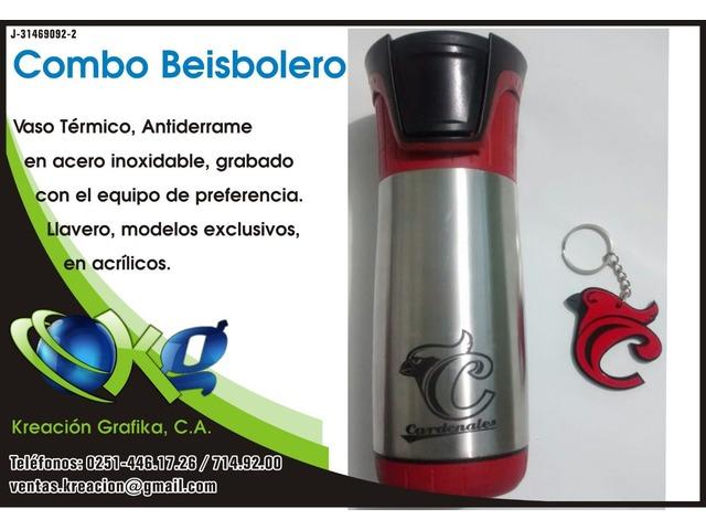 Combo de Vasos Beibolero Cardenales de Lara - 1/1