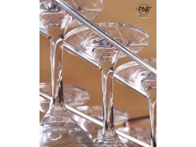 Porta copas copero accesorio para bar y o muebles de for Muebles de cocina 25 cm