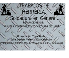 HERRERÍA Y SOLDADURA A DOMICILIO.