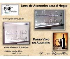 Porta Vinos (Vinera) en Aluminio