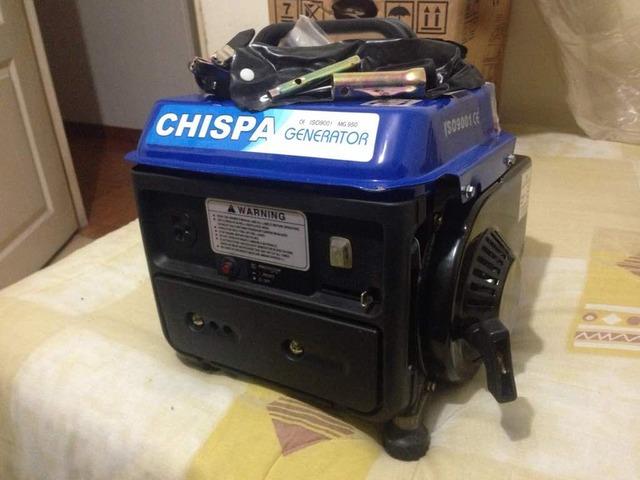 PLANTA ELECTRICA o GENERADOR  CHISPA  CALIDAD ISO 9001  950 W   ORIGINAL NUEVO - 1/3