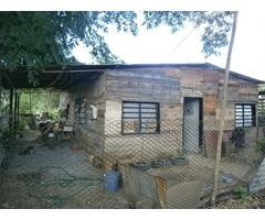 casa en construccion y parcela sembrada ambiente fresco