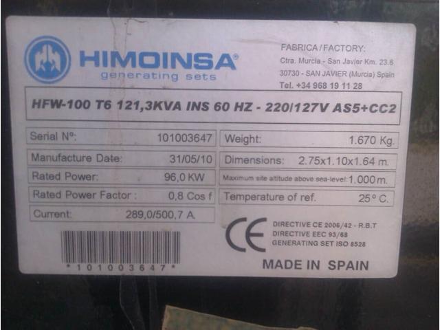 Olanta Electrica de 121 KVA - 2/4