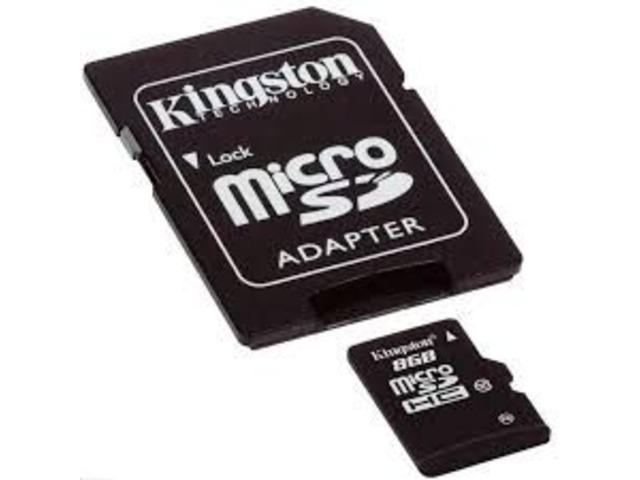 MicroSD 8gb Kingston - 1/3
