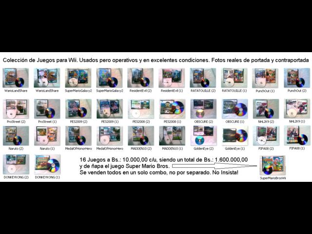 WII Colección de VideoJuegos - 1/1