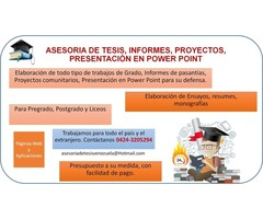 Tesis, Informes Y Presentaciones En Power Point